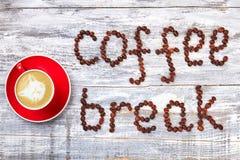 Cappucino i kawowa przerwa Obrazy Stock