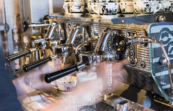 Cappucino-Maschine Lizenzfreie Stockfotos