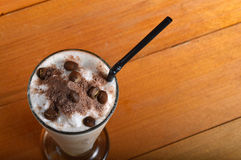 Cappucino milkshake drink Royalty Free Stock Image