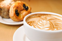 Cappucino and Pastries Stock Photo