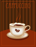 Cappucino Poster Royalty Free Stock Photo