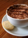 Cappucino with shortbread. Cappucino coffee with shortbread royalty free stock photo