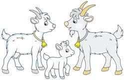 Capra, bambino e lui-capra Fotografie Stock Libere da Diritti