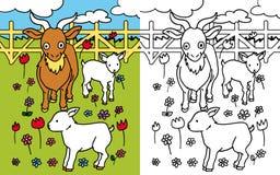 Capra del libro di coloritura Immagine Stock