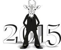 Capra di bianco di anno illustrazione vettoriale