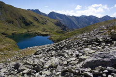 Capra Lake. Glacial Capra(Goat) Lake Fagaras, Romania royalty free stock photo