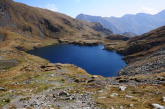 Capra Lake. Trip in Fagaras Mountains, in september Stock Photography