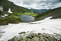 Capra lake. Lake Capra near Fagaras mountain - Romania Stock Photography