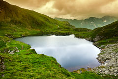 Capra lake in Romania. N Carpathians, Fagaras mountain range Stock Photos