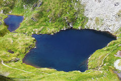 Capra lake in the Transylvanian Alps Royalty Free Stock Images