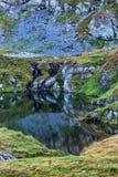 Capra See in Fagaras-Bergen Rumänien Stockfoto