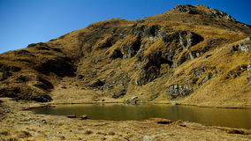 Capra See (Goat See) in den Transsilvanische Alpen, Rumänien Lizenzfreies Stockbild