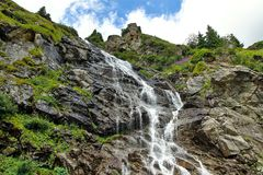 Capra waterfall. Romania. Capra waterfall in Fagaras Mountains, Romania Stock Image