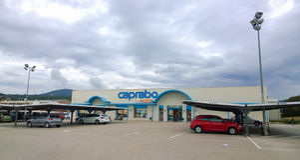Caprabosupermarkt Stock Foto