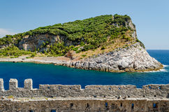 Capraia island near Portovenere, Liguria Stock Photo