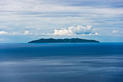 Capraia isle, view from Marciana, Elba isle. Royalty Free Stock Images