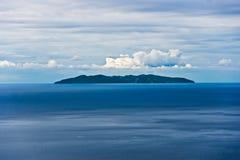 Capraia isle, view from Marciana, Elba isle. royalty free stock images