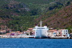 Capraia Marina With Large Ferryboat Stock Photos
