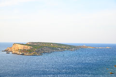 Capraia View. From San Nicola island, Tremiti, Italy Royalty Free Stock Images