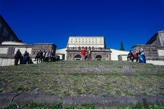 CAPRAROLA, ITÁLIA - 27 de novembro de 2011: A casa de campo Farnese na cabra Fotos de Stock