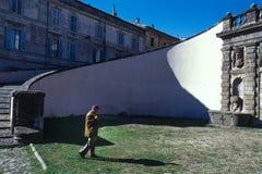 CAPRAROLA, ITÁLIA - 27 de novembro de 2011: A casa de campo Farnese na cabra Imagem de Stock Royalty Free