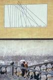 CAPRAROLA, ITÁLIA - 27 de novembro de 2011: A casa de campo Farnese na cabra Foto de Stock Royalty Free
