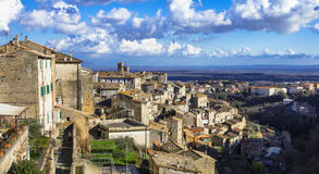 Caprarola village in Italy, Viterbo province Stock Photos