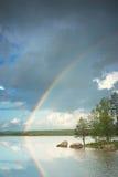 Capre with rainbow Stock Photos