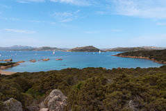 Caprera Island. View of the sea on the island of Caprera in Sardinia Royalty Free Stock Images
