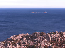 Caprera wyspa i swój wybrzeża Zdjęcie Stock