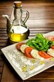 Caprese沙拉,传统意大利开胃菜 库存图片