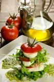 Caprese沙拉,传统意大利开胃菜 图库摄影