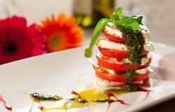 caprese ιταλική σαλάτα Στοκ εικόνες με δικαίωμα ελεύθερης χρήσης