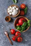 caprese салат ингридиентов Стоковая Фотография