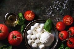 caprese салат ингридиентов Стоковая Фотография RF