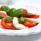 caprese салат крупного плана Стоковое Изображение