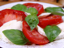Caprese. Aromatic and tasty stuff for lunch Royalty Free Stock Images