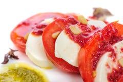 Caprese antipasto salad with mozarella cheese, Royalty Free Stock Photos