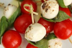 Caprese appetiser Royalty Free Stock Images