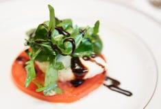 Caprese appetizer on plate Stock Photos