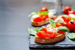 Caprese bruschetta Royalty Free Stock Image