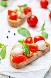 Caprese bruschetta Stock Photography