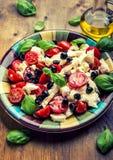 Caprese caprese σαλάτα ιταλική σαλάτα Μεσογειακή σαλάτα carpaccio κουζίνας άριστη πολυτέλεια τρόπου ζωής τροφίμων ιταλική Μεσογει Στοκ Εικόνες