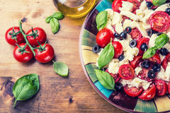 Caprese caprese σαλάτα ιταλική σαλάτα Μεσογειακή σαλάτα carpaccio κουζίνας άριστη πολυτέλεια τρόπου ζωής τροφίμων ιταλική Μεσογει Στοκ Φωτογραφίες