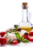 Caprese caprese σαλάτα ιταλική σαλάτα Μεσογειακή σαλάτα carpaccio κουζίνας άριστη πολυτέλεια τρόπου ζωής τροφίμων ιταλική Μεσογει Στοκ φωτογραφίες με δικαίωμα ελεύθερης χρήσης