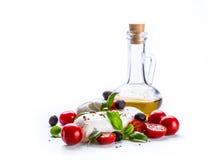 Caprese caprese σαλάτα ιταλική σαλάτα Μεσογειακή σαλάτα carpaccio κουζίνας άριστη πολυτέλεια τρόπου ζωής τροφίμων ιταλική Μεσογει Στοκ Φωτογραφία