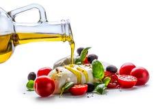 Caprese caprese салат итальянский салат Среднеземноморской салат роскошь уклада жизни превосходной еды кухни carpaccio итальянска Стоковое Изображение RF
