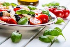 Caprese caprese sallad italiensk sallad Medelhavs- sallad lyx för livsstil för utmärkt mat för carpacciokokkonst italiensk Medelh Royaltyfri Fotografi