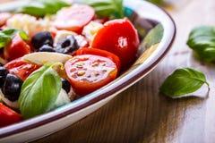 Caprese caprese sallad italiensk sallad Medelhavs- sallad lyx för livsstil för utmärkt mat för carpacciokokkonst italiensk Medelh Royaltyfria Foton
