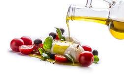 Caprese caprese sallad italiensk sallad Medelhavs- sallad lyx för livsstil för utmärkt mat för carpacciokokkonst italiensk Medelh Royaltyfri Foto